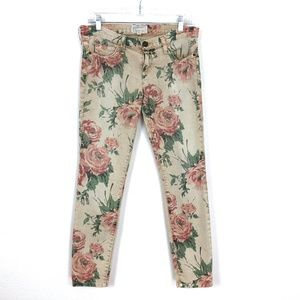 Current/Elliott Floral Stiletto Skinny Jeans